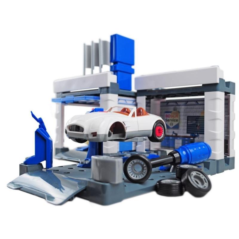 Klein 8647 Stacja obsługi Bosch z myjniąi samochodem do skręcania
