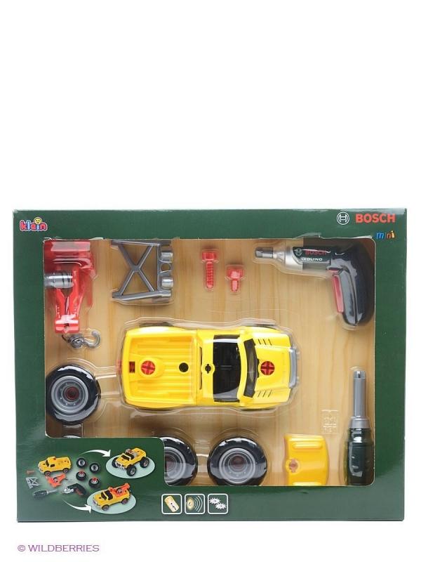 Klein 8168 Samochód do skręcania 3w1 z wkrętarką - żółty