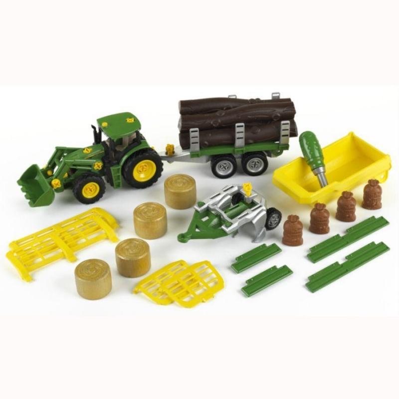 Klein 3907 Traktor John Deere do skręcania + mega zestaw