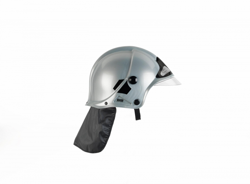Klein 8902 Hełm strażacki srebrny MSA z opuszczaną szybką