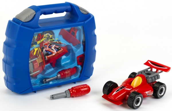 Klein 8013 Walizka z autem do skręcania Hot Wheels