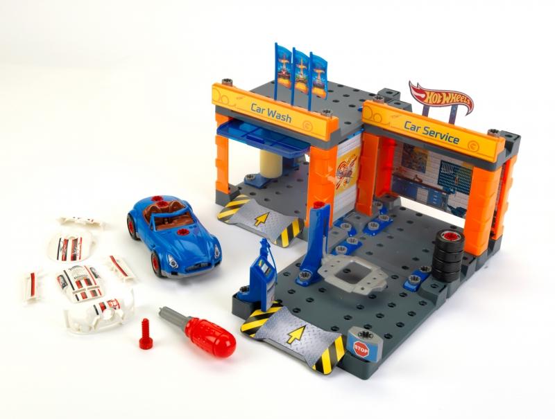 Klein 8015 Stacja obsługi Hot Wheels z myjnią i samochodem do skręcania