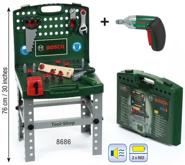 Klein 8686 Warsztat Bosch walizkowy z wkrętarką Ixolino