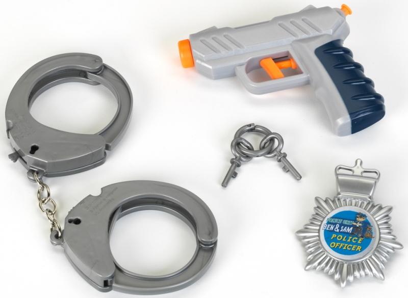 Klein 8805 Zestaw policyjny na blistrze, 3el. z pistoletem
